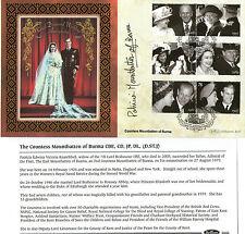 2007 ROYAL DIAMOND WEDDING SIGNED COUNTESS MOUNTBATTEN BENHAM FIRST DAY COVER