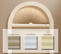 Arch Cellular Shade - Free Shipping - 4 Colors, 5 Sizes