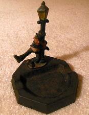 Vintage Cast Iron Ash Tray - Drunk Hanging on Lamp Post - John Wright