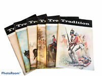 Lot of 6 VTG Tradition  Magazines The Journal of Int Society Military Collectors