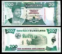 SWAZILAND 200 EMALANGENI 6-9-1998 P 28 AU-UNC
