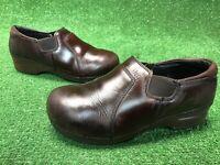 Dansko XP Tatum Clog Women size 40 US 9.5-10 Professional Brown Leather