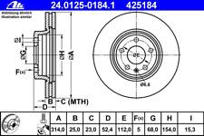 Bremsscheibe (2 Stück) - ATE 24.0125-0184.1