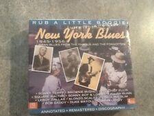 Various New York Blues 1945-1956 Rub A Little Boogie New 4 Disc CD Box Set JSP