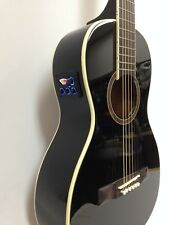 Caraya Parlor-590 Parlor Acoustic Guitar,Built-in EQ & Tuner, Black+Free Gig Bag