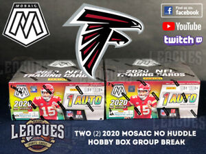 Falcons | 2020 Panini Mosaic NO HUDDLE Hobby Box Football Two (2) Box Break