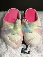 NWT-Secret Treasures Cute Women's Unicorn Plush Slippers size 5/6