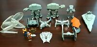 Star Wars Micro Machines Lot - AT-AT X-Wing Snowspeeder B-Wing Tie Fighter Etc