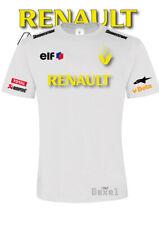 TSHIRT Printed Renault Racing ELF Francia Auto Moto Sport Italia 100% Cotone Bia