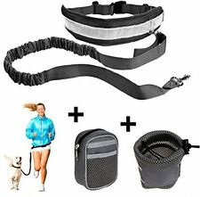CUGLB Hands Free Dog Leash,Running Dog Harness And Lead Runner Bungee With For