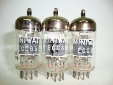 3 x ECC85 MINIWATT NOS TUBES. SAME CODE PRODUCTION, SIMPLE DISK GETTER.