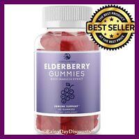 Black Elderberry Gummies Sambucus Immune Booster Support With Vitamin C & Zinc
