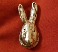 Rabbit bunny head sterling silver pin