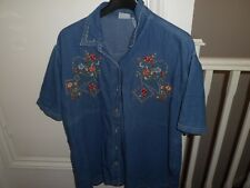 Bobbie Brooks Woman, Ladies 22W / 24W, 100% COTTON, with decorated stitches