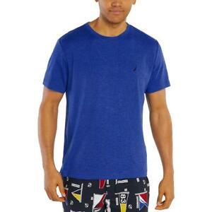 Nautica Sleepwear Mens Blue Logo Jersey Lounge Sleep Tee Shirt M BHFO 8514