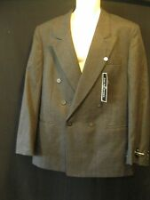 NWT Men's CHARCOAL BLAZOR  Jacket 100% wool Jean-Paul Germain PARIS  42 R
