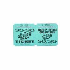 Green 50/50 Raffle Tickets : roll of 1000 Free Shipping