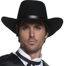Mens Deluxe Gunslinger Gunman Cowboy Hat Fancy Dress New by Smiffys