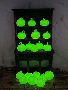 Set of 3 dolls house glow in the dark Pumpkins Merrily's Magical Miniatures