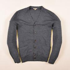 GAP Herren Cardigan Pullover Sweater Gr.S 100% Merino Wolle Grau 83409
