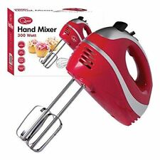 5 Speed 300w Hand Held Food Electric Whisk Mixer Blender Beater - Red