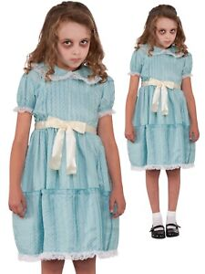 The Shining Twin Sister Girls Costume Childs Creepy Halloween Fancy Dress Outfit
