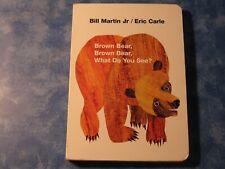 Brown Bear, Brown Bear, What Do You See Bill Martin Board Book 1996 Xlnt