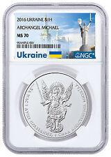 2016 Ukraine 1 oz Silver Archangel Michael NGC MS70 Ukraine Label SKU48624