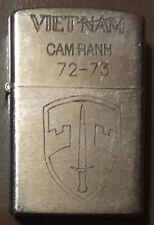 Vietnam War Zippo Lighter. Cam Ranh 72-73.