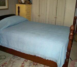 Chenille Bedspread Twin Size-Blue