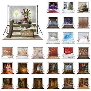 10x10FT Vinyl Christmas Tree Wreath Ball Snow Studio Backdrop Photo Background
