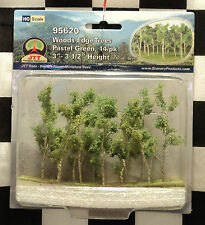 "JTT SCENERY 95620 WOODS EDGE TREES - PASTEL GREEN  3"" - 3 1/2""  HO-SCALE  14/PK"