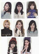 Korea K-POP KPOP Girls' Generation TAEYEON Tiffany HYOYEON Yoona YURI card 131b