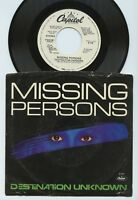 MISSING PERSONS Destination Unknown  WHITE LABEL PROMO - PB-5161 - NM 45