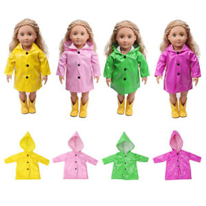 Raincoat Clothes Coat for 18 Inch AG American Doll Doll Outfit Candy Color