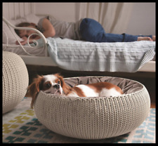 Curver Cozy Pet Bed Small Dog Cat Basket with Cushion 🐶 CUSTOMER RETURN BARGAIN