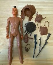 Vintage 1960's Marx Johnny West Fighting Eagle Action Figure w/ Access   * 3 DAY
