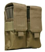 VISM Quad Rifle Magazine Pouch w/ TOP FLAP MOLLE Tactical Duty Gear Hunting TAN~