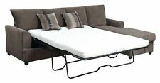 CHOCOLATE VELVET QUEEN SLEEPER STORAGE SOFA SECTIONAL LIVING ROOM FURNITURE