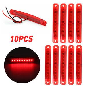 10PC Mini LED Side Clearance Marker Bullet Light For Truck Trailer RV RED 12V A