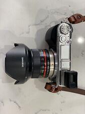 Panasonic LUMIX DMC-GX7 16.0MP Digital Camera - Silver with samyang 12mm Lens