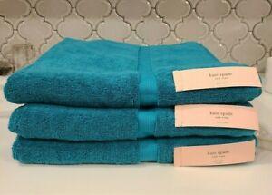 "NWT Kate Spade New York Blue Harrington Bath Towels 30""x 56"" Set of 3"