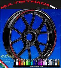 Set Adesivi Cerchi Moto Ruote DUCATI MULTISTRADA 1200 Enduro 950 bicolore