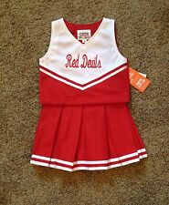 Size 6 Red Devils Cheerleader Dress Up uniform Sportswear Costume NWT!