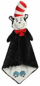Dr Seuss Luvster 20'' Cat in the Hat Blanket Plush Soft Toy Comforter