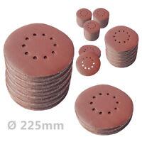 50 Stück Schleifscheiben KLETT Ø225mm Körnung P40-P240 Schleifblätter Exzenter