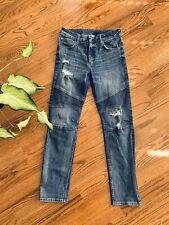 H&M Skinny Bikers Moto Jeans Boy's Size 28/29 Stretch Blue
