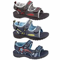 New Boys Kids Summer Sandals Double Starp Walking Sports Beach Shoes UK Size