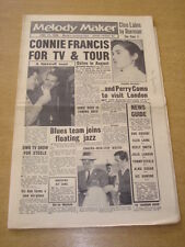 MELODY MAKER 1958 JUNE 14 CONNIE FRANCIS PERRY COMO BLUES FRANK SINATRA STEELE +