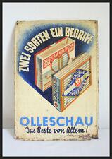 ORIGINAL OLLESCHAU TABAKSCHILD SIGN TOBACCO CONSTRUCTIVSIM BAUHAUS Blechschild